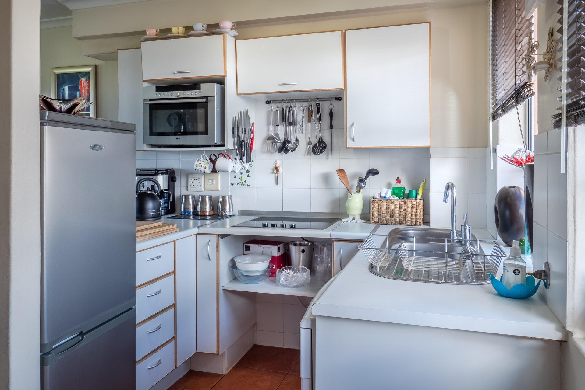 inrichting kleine keuken